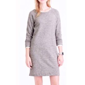 J. Crew Grey Terry Sweatshirt Dress | S